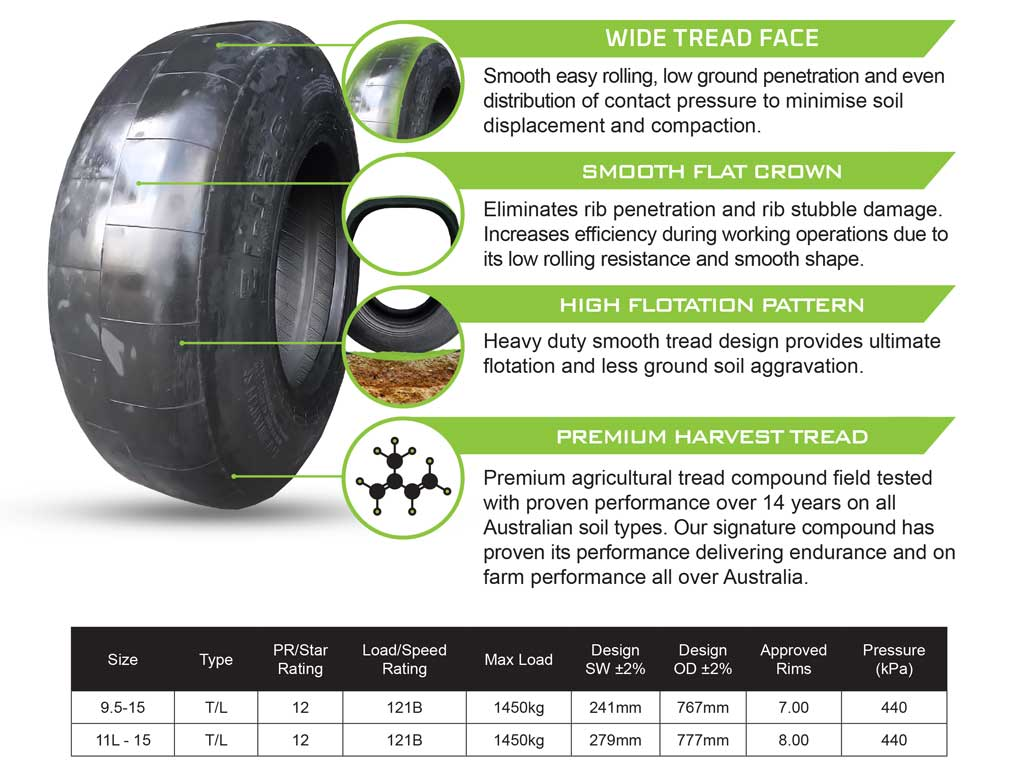 Flotation Tyre - Stubble Master from Harvest Tyres